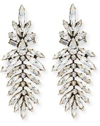 Auden - Emerson Marquis Crystal Drop Earrings - Lyst