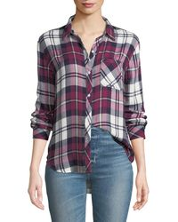 Rails - Hunter Plaid Button-front Long-sleeve Shirt - Lyst