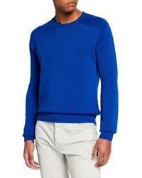 c140e455a3a Berluti - Men s Silk-blend Crewneck Sweater - Lyst