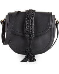 Lyst - Altuzarra Ghianda Bullrope Saddle Bag in Black 8e95fba9dfd6b