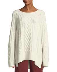 Vince - Cable Knit Wool-blend Jumper - Lyst