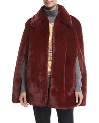 Burberry - Allford Faux-fur Cape - Lyst