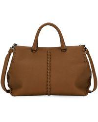 Bottega Veneta - Small Cervo Leather Tote Bag - Lyst