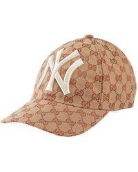 9050e44e36d Gucci - Men s Logo-print Baseball Cap With New York Yankees Applique - Lyst