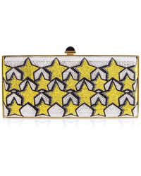 Judith Leiber - Stars Large Coffered Crystal Clutch Bag - Lyst