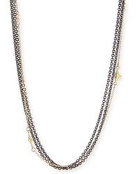 Armenta Old World Pavé Diamond Ball Tassel Necklace ncrLfR3zy