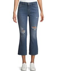 J Brand - Aubrie High-rise Crop Boot Flared Jeans - Lyst