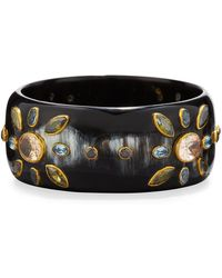 Ashley Pittman - Malkia Dark Horn Bangle Bracelet - Lyst