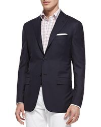 Kiton - Three-button Wool Blazer - Lyst