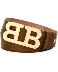 Bally - Stamped Leather Mirror B Belt - Lyst