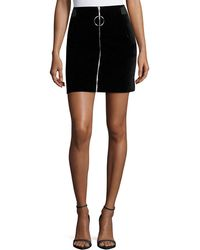 Thierry Mugler | Jupe Zip-front Mini Skirt | Lyst