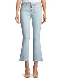 Veronica Beard - Carolyn Baby Boot Cropped Jeans With Tux Side - Lyst