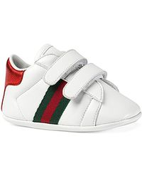 196bfa225fe Lyst - Gucci Men s New Ace Leather Low-top Sneakers in White for Men