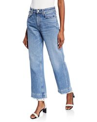 Rag & Bone - Ruth Super High-rise Straight Cropped Jeans - Lyst