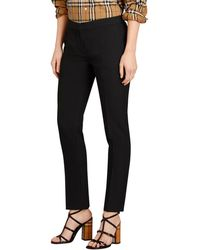 Burberry - Straight-fit Wool Tailored Trousers - Lyst