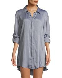 Onia - Marie Striped Button-front Coverup Tunic - Lyst