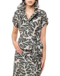 Akris Punto - Tropical-print Safari Jacket - Lyst