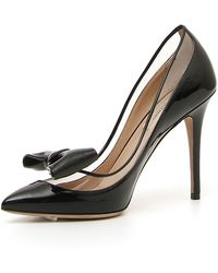 Valentino Glassglow Patent Bow Court Shoes