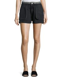 Opening Ceremony - Cotton Denim Inside-out Shorts - Lyst