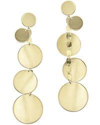 Lana Jewelry - Five-disc Linear Drop Earrings - Lyst