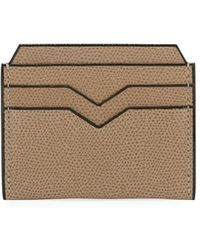 Valextra - Textured Leather Card Case - Lyst