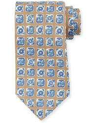 Kiton - Diamond-print Silk Tie - Lyst
