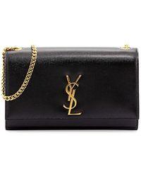 Saint Laurent - Monogramme Medium Leather Shoulder Bag - Lyst