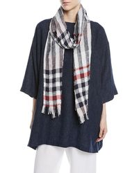 Eskandar | Check Scarf With Fringes | Lyst