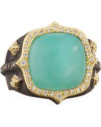 Armenta - 18k Old World Aquaprasetm & Diamond Ring - Lyst