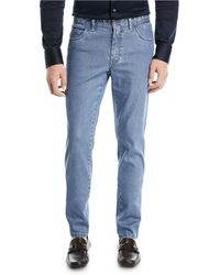 Brioni - Straight-leg Stretch Denim Jeans - Lyst