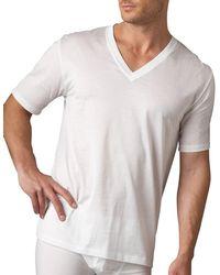 Hanro - Cotton Sporty V-neck Tee - Lyst