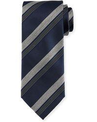 Brioni - Diagonal-stripe Silk Tie - Lyst