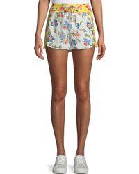 Joie - Deodata Drawstring Floral-print Silk Shorts - Lyst