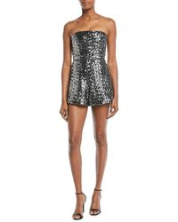 Alexis - Rosemary Sequin Strapless Romper - Lyst