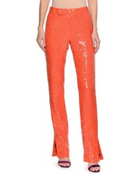 MSGM - Neon Sequin Straight-leg Trousers - Lyst