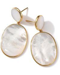 Ippolita - 18k Rock Candy Mother-of-pearl Snowman Earrings - Lyst