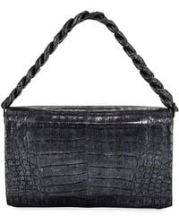 Nancy Gonzalez - Convertible Metallic Crocodile Chain-trim Flap Bag - Lyst