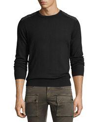 Belstaff - Kerrigan Cotton Crewneck Sweater - Lyst