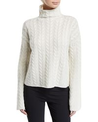 Theory - Horseshoe Cable Cashmere Jumper - Lyst