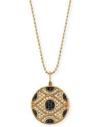 Sydney Evan - Large Evil Eye Medallion Necklace - Lyst