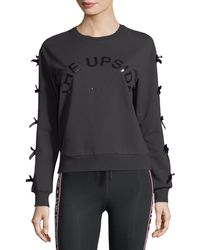 The Upside | Bowie Crewneck Sweatshirt W/ Bow Details | Lyst