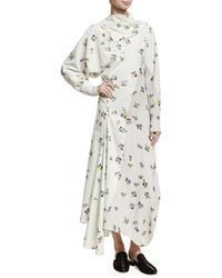 Acne | Dragica Floral-print Voile Dress | Lyst