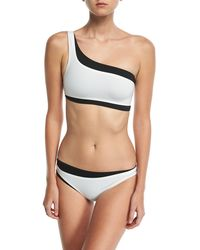 fd09f6b40b808 Proenza Schouler - One-shoulder Colorblocked Bikini Set - Lyst