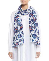 Eskandar - Floral-print Silk Scarf - Lyst