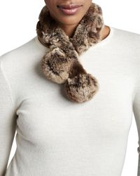 Belle Fare - Rabbit Fur Neck Warmer - Lyst