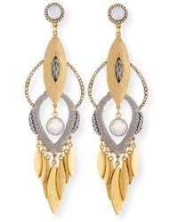Sequin - Tiered Fringe Drop Earrings - Lyst