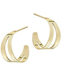 Lana Jewelry - Double Flat Huggie Hoop Earrings - Lyst