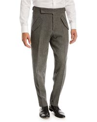 Zegna Sport - Jacquard Check Trousers - Lyst