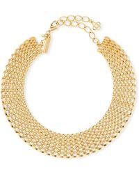 Oscar de la Renta - Linked Chain Choker Necklace - Lyst