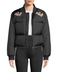 Off-White c/o Virgil Abloh - Embroidered Puffer Jacket - Lyst